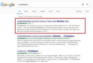 Google Meta Description Tags Updated 160 - 230 - Proideators Digital Marketing Course Training Institute