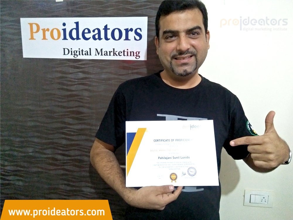 Proideators Digital Marketing Course Training Institute Certificate Distribution