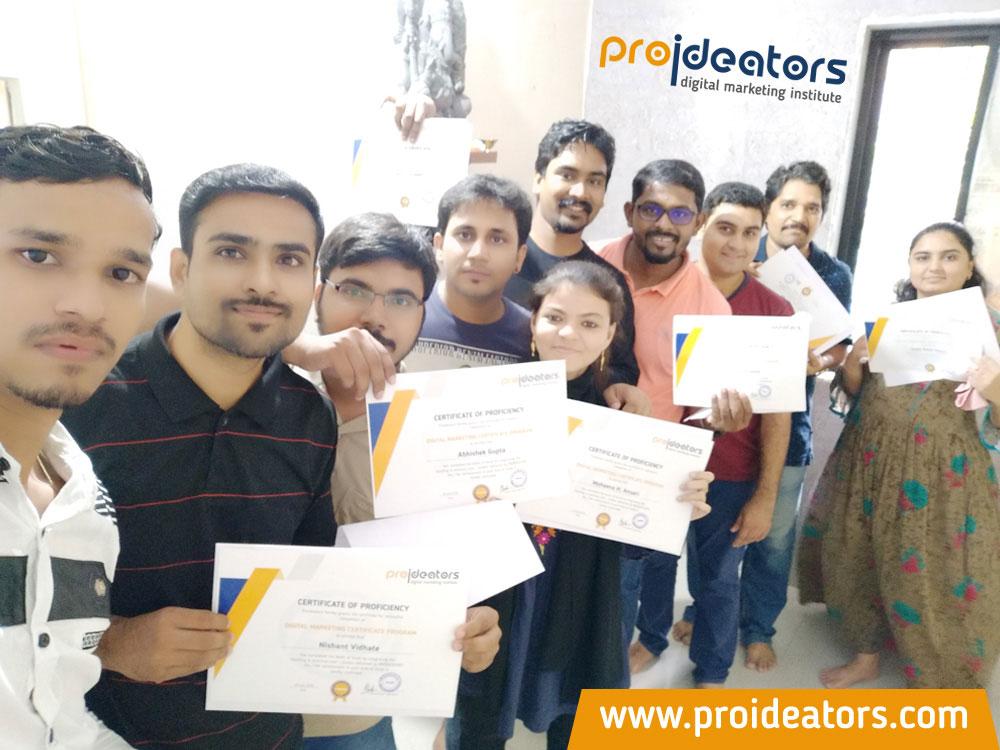 Proideators Digital Marketing Course Training Institute Certificate Distribution - Proideators Digital Marketing Course Training Institute